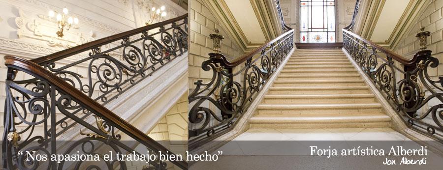 Forja art stica de dise o - Barandas de forja para escaleras ...